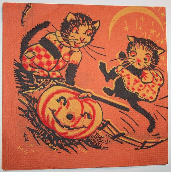 vintage halloween black cats - Old Fashion Halloween